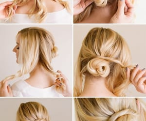 bun, chignon, and coiffure image