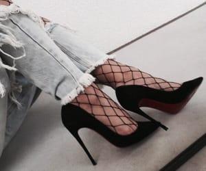 denim, fashion, and luxury+noir+shoe image