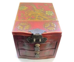 etsy, japanese box, and red lacquer box image