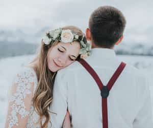 bride, happiness, and wedding image