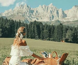 mountains, picnic, and nature image