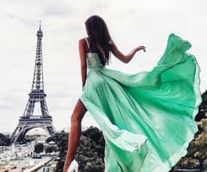 paris, green, and dress image