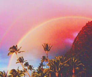 rainbow, sky, and summer image
