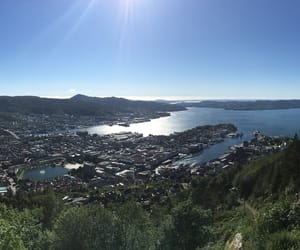 bergen, city, and sea image