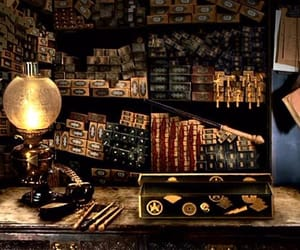 harry potter, wands, and wand shop image