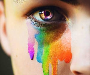 colors, eyes, and man image