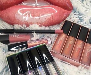 lips, makeup, and huda beauty image