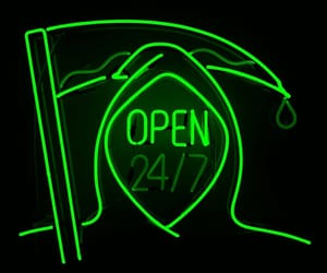 death, neon, and green image