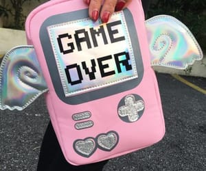 gameboy, cute, and pink image