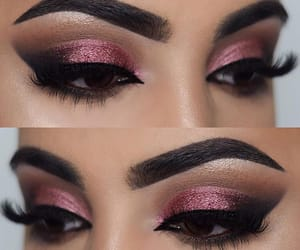 makeup, beautiful, and brown eyes image