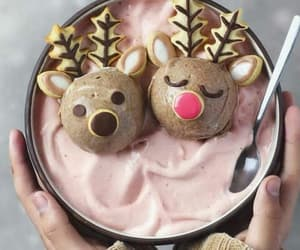 food, christmas, and reindeer image