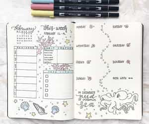 journal, bullet, and bullet journal image