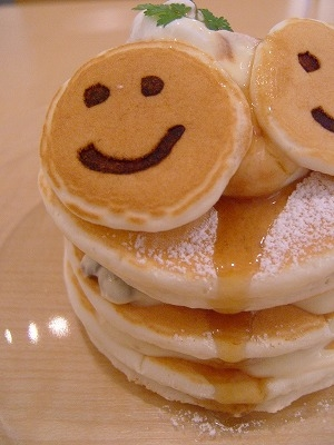 pancakes and smiley faces image