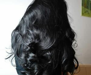 hair, black, and long hair image