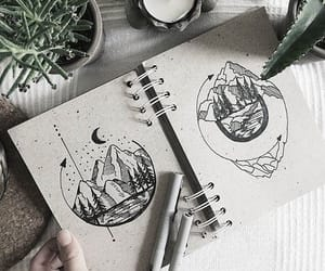 art, black and white, and imagination image