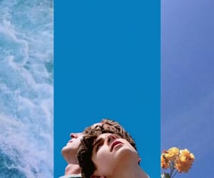 background, timothee chalamet, and blue aesthetic image