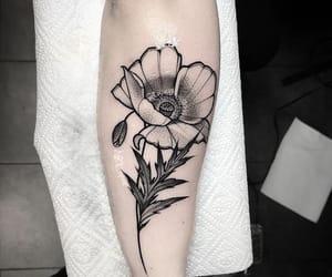flower, inked, and blackwork image