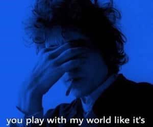 blue, bob dylan, and Lyrics image