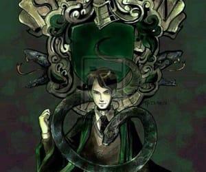 slytherin, tom riddle, and harry potter image