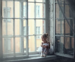 girl, window, and ballet image