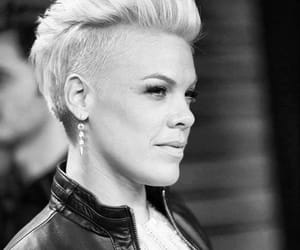 beautiful, black and white, and P!nk image