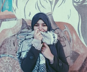 dz, happy, and hijab image