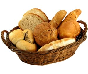 basket, bread, and brown image