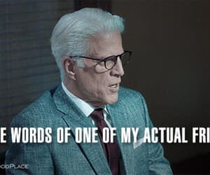 gif, michael, and the good place image