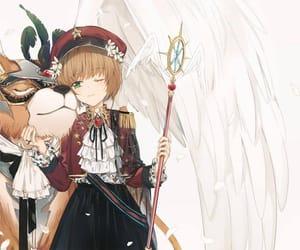 lion, sakura, and anime girls image