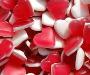 candy, pink, and heart image