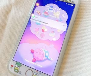 iphone, kirby, and cute image