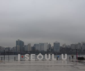 buildings, cloudy, and korea image