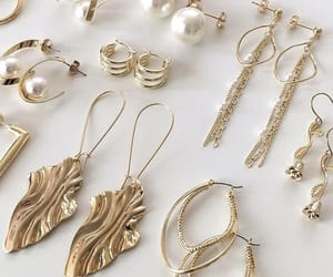earrings, jewelry, and beauty image