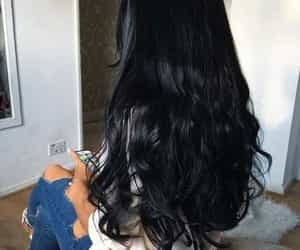 girl, wavy hair, and hair image