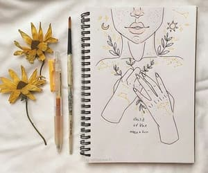 delicate, soft, and bullet journal image