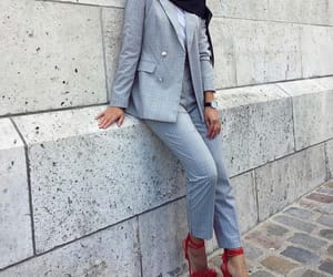 fashion, suit, and grey image