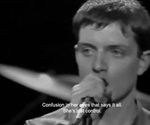 joy division, black and white, and ian curtis image