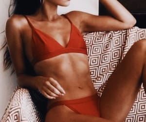 red, bikini, and girl image