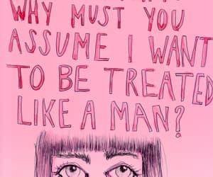 feminism, feminist, and pink image