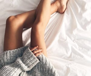 bed, sweaters, and chill image