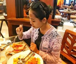 breakfast, eating, and girl image