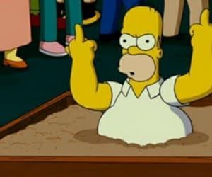 Homero, homero simpson, and enojado image