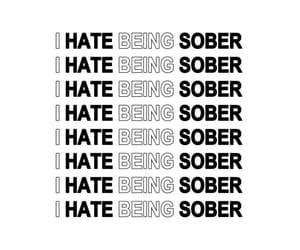 quote, sober, and text image