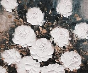 theme, white, and flowers image