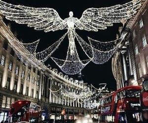 london, lights, and christmas image
