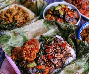 banana leaf, grill, and rice image