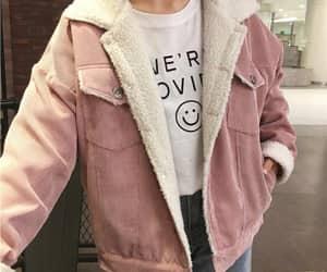 fashion, pink, and jacket image