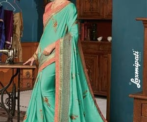 traditional sarees, georgette sarees, and silk sarees image