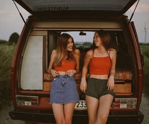 girl, friendship, and trip image