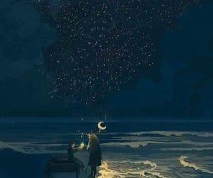 art, illustration, and stars image